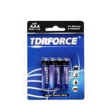 nicht wiederaufladbare Kohlenstoff-Batterie R03-AAA-Um3 des Zink-1.5V Hochleistungs