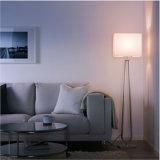 Lámpara ligera derecha alta flaca contemporánea de la lámpara de suelo con la cortina de lino de la tela, ajuste para el dormitorio del hotel y sala de estar casera