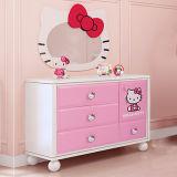 La fábrica 2017 suministra directo los muebles más nuevos del dormitorio de los cabritos de los niños del gatito de los diseños hola fijados para la muchacha (item No#159)