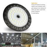 Luces de la bahía LED del UFO del anuncio publicitario industrial de la venta al por menor del almacén de Dimmable 150W altas