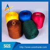 염색된 색깔 공장 판매 대리점 100%년 폴리에스테 반지에 의하여 회전되는 털실 꿰매는 털실