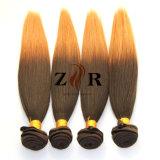 標準的な#4t27 Ombreカラーインドのまっすぐな人間の毛髪のWeft卸売