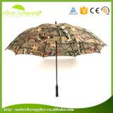 Qualitäts-Tarnung-Gewebe-doppelte Schicht-Muster-kundenspezifischer Golf-Regenschirm