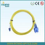 Kabel van de Optische Vezel lC-Sc FTTH van Sm de DuplexPatchcord met de Lengte van de Douane