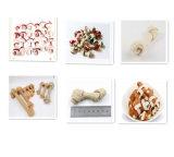 Ernährungshaustier-Imbiss-Twined weißer Schlachthaut-Knoten durch Chicken