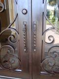 Portello superiore del ferro saldato di marca dell'arco esterno diretto internazionale del rifornimento doppio con la serratura