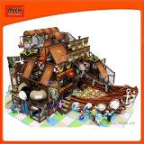 Le Château de vilains enfants colorés de la sécurité commerciale de l'équipement de terrain de jeux intérieure, les enfants Terrain de jeux intérieur pour la vente
