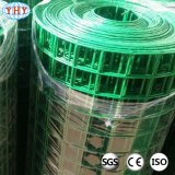 Maille soudée enduite par PVC verte de fil d'acier de 2 pouces pour la frontière de sécurité de jardin