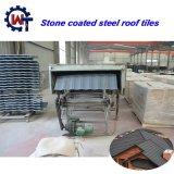 性質によって着色される波形の頻繁使用された石造りの上塗を施してある金属の屋根瓦