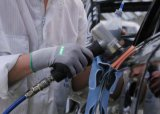 니트릴 종려를 가진 기름 증거 안전 일 장갑이 15g에 의하여 뜨개질을 했다