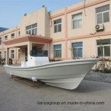 Ce de bateau de pêche de console centrale de bateau de fibre de Liya 25FT reconnu