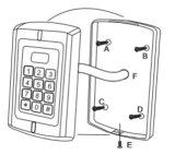 La proximité du clavier de contrôle d'accès Lecteur de carte (SR3-K)