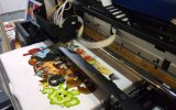 Macchina su ordinazione di stampaggio di tessuti del tessuto della stampante delle magliette di Digitahi