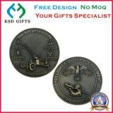 Сплав цинка сувенира умирает монетки Usn эмали бросания воинские изготовленный на заказ