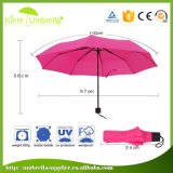 21inch昇進の女性日傘3折る雨傘