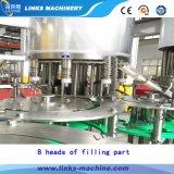 Línea que capsula de relleno que se lava/planta de la botella de agua mineral automática llena
