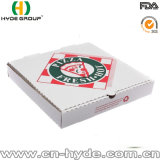 Nuevo sistema de impresión blanco ondulado Diseño Pizza Box