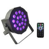 18 1W LED段階のためのリモートとの紫外線棒黒の同価の照明