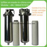 Cárter del filtro del cartucho del acero inoxidable de SS316 SS304 solo 10 20 30 40 pulgadas