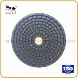 """4 """" Plaquettes de polissage de diamants 50# souple de granit marbre pierre de béton humide de la résine sec Bond meulage jeu de disques de plancher"""