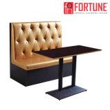 Restaurante reta Cabine duplo sofá para coffee shop/café (FOH-XM31-290)