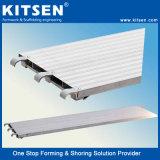Andamios de aluminio de alta resistencia a pie las placas de convergencia