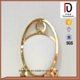 Présidence de mariage d'or et d'événement de la plus défunte de haute forme ovale modèle de dos