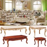 居間の家具(510B)のためにセットされる木ファブリックソファー