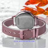 Señora Quartz Wist Watch, servicio del OEM de los relojes de señoras (WY-17025C) de cuero de la correa