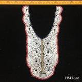 уравновешивания Applique Neckline шнурка Venise ворота вышивки хлопка 25*43cm ворот вышивки Whitework хлопка длиннего красивейший белый с кругом Hm2024 геометрии