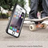 Прозрачная водоустойчивая защитная крышка iPhone 6 аргументы за черни/сотового телефона