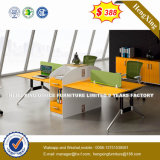 Partition de bureau/poste de travail en bois en verre en aluminium modernes (UL-NM074)