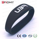 Wristband del silicone di RFID con il chip di Lf/Hf/UHF