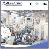 Linha de produção plástica da extrusora da eficiência elevada de tubulação da água/gás do HDPE