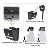 Capteur de mouvement solaire LED Chaîne en cuivre de la lumière avec détecteur de mouvement pour l'extérieur, jardin, la maison, fête de Noël