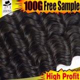 Cheveu profond humain brésilien d'onde de vente chaude