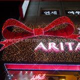 새로운 아름다운 리본 크리스마스 LED 훈장 빛 쇼핑 센터 훈장