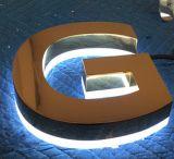 電気めっきのステンレス鋼の経路識別文字の印