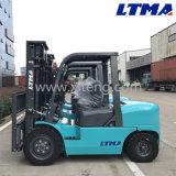 Transmissão mecânica Forklift Diesel de 4 toneladas com o mastro de 2 estágios