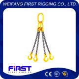 高品質G80のタイプ合金鋼鉄調節可能な4本の足のチェーン吊り鎖
