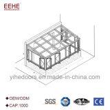 Casa de vidro da cabine quente da venda 2018 com telhado do Sunroom