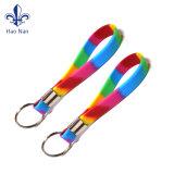 Bracelets de silicones de porte-clés estampés par coutume
