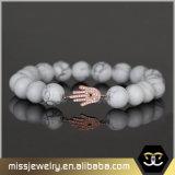 De Geparelde Armband van Hamsa van vrouwen Charme, Geparelde Armbanden voor Vrouwen Mjcbe004