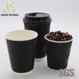 10oz / 12oz двойные стенки изолированный горячего кофе чашки бумаги