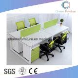 분할 컴퓨터 테이블 사무실 워크 스테이션이 6개의 시트에 의하여 녹색이 된다