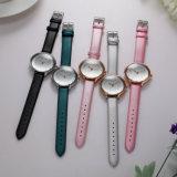 Reloj de señoras de la mujer del regalo del ODM del OEM de los cuartos de galón de la correa de cuero (Wy-052D)