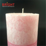 Personalized Pink Scented Big Pillar Candle with Decoration