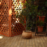 Système en bois de tapis d'étage de tuiles de Foshan de couplage de planche en gros de Decking pour la tente dure de remorque de campeur d'étage