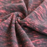 Panno morbido di effetto di stampa del catione micro, tessuto del rivestimento (il nero e colore rosso)