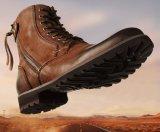 Les hommes de la cheville Bottes en cuir véritable dentelle de fermeture à glissière jusqu'Boot